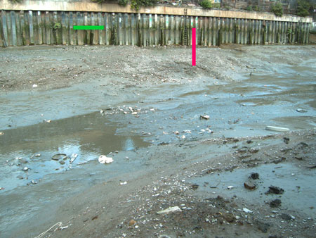possible Roman ford at Deptford Creek