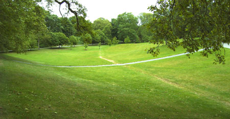 remains of possible Roman Watling Street in Greenwich Park